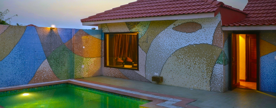gajraj resort cottage with private swimming pool
